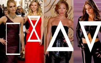 Tipo rectangulo, guitarra, triangulo y triangulo invertido